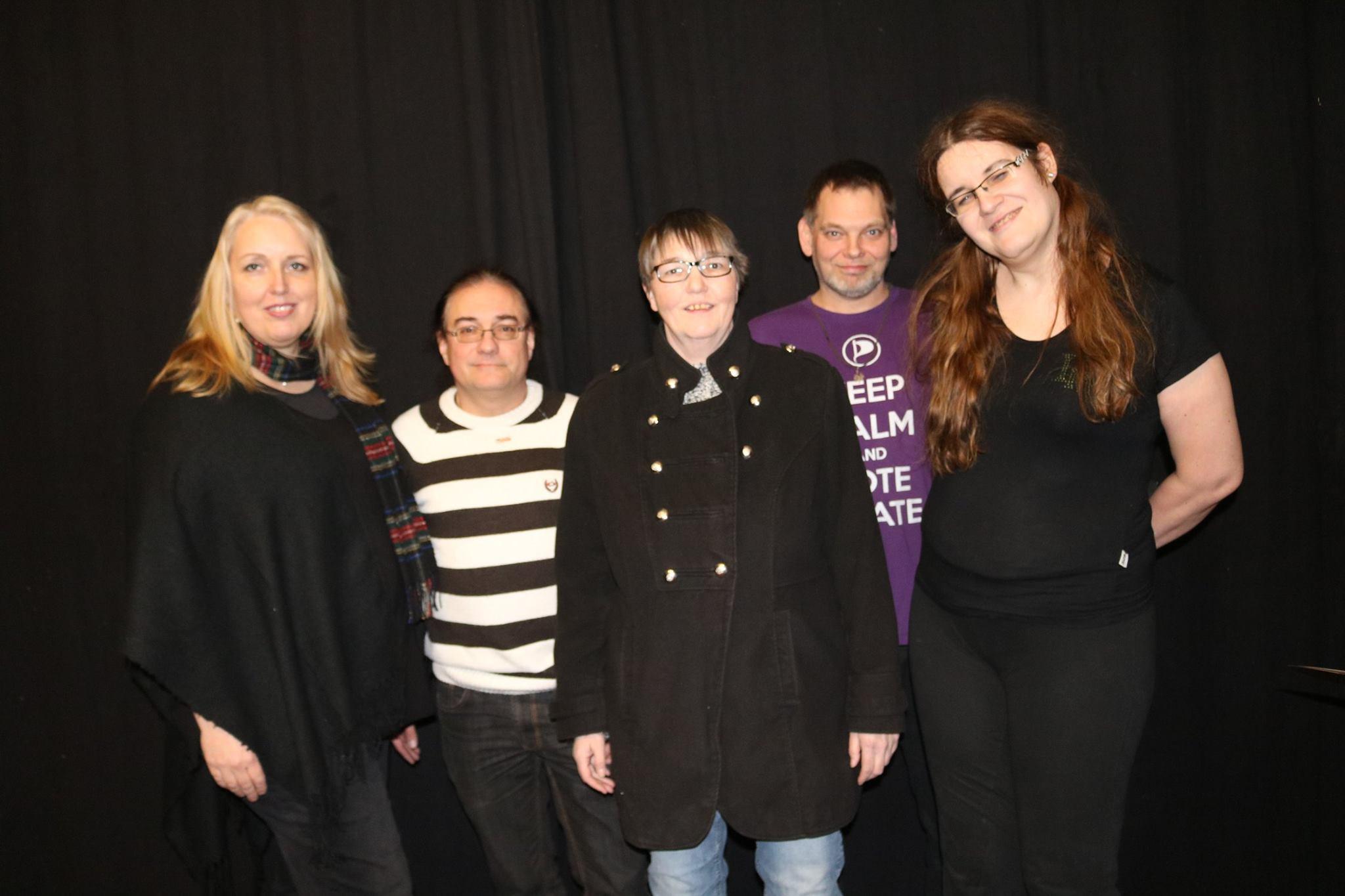 von links nach rechts: Lisa Gerlach, Harald Paul, Manuela Langer, Ingo Luff, Aki Nofftz
