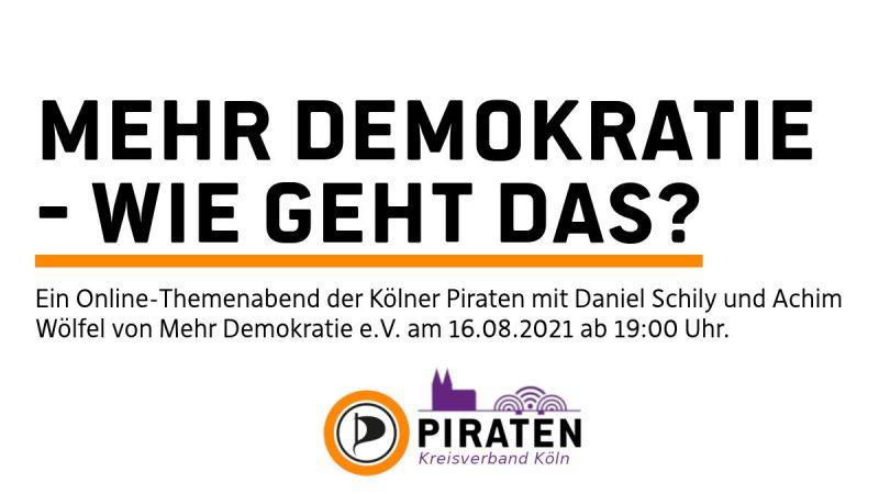 Themenabend Mehr Demokratie - Wie geht das?